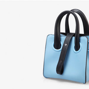 blue bag bucket bag mini bag sling bag edgability side view