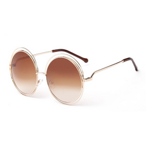 brown ombre double rimmed sunglasses edgability