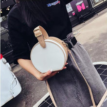box bag round bag vintage bag with buckle edgability model view