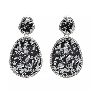 marble acetate statement earrings chic jewelry edgability