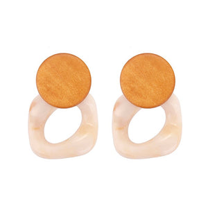 wood marble earrings edgy jewelry edgability
