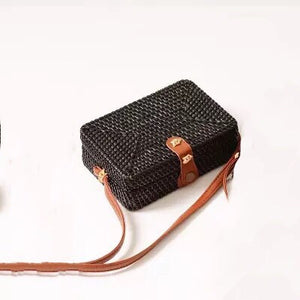 rattan bag black bag box bag edgability