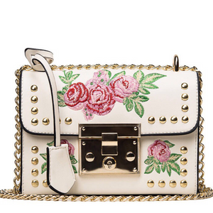 studded bag floral bag edgability