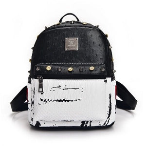 marble backpack studded bag edgability