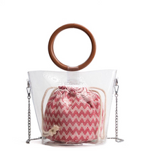 clear bag bucket bag transparent bag edgability