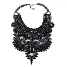 black layered statement necklace top view edgability
