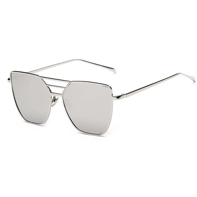 silver sunglasses with silver frames front view edgability