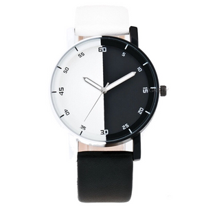 black and white watch with white black dial edgability