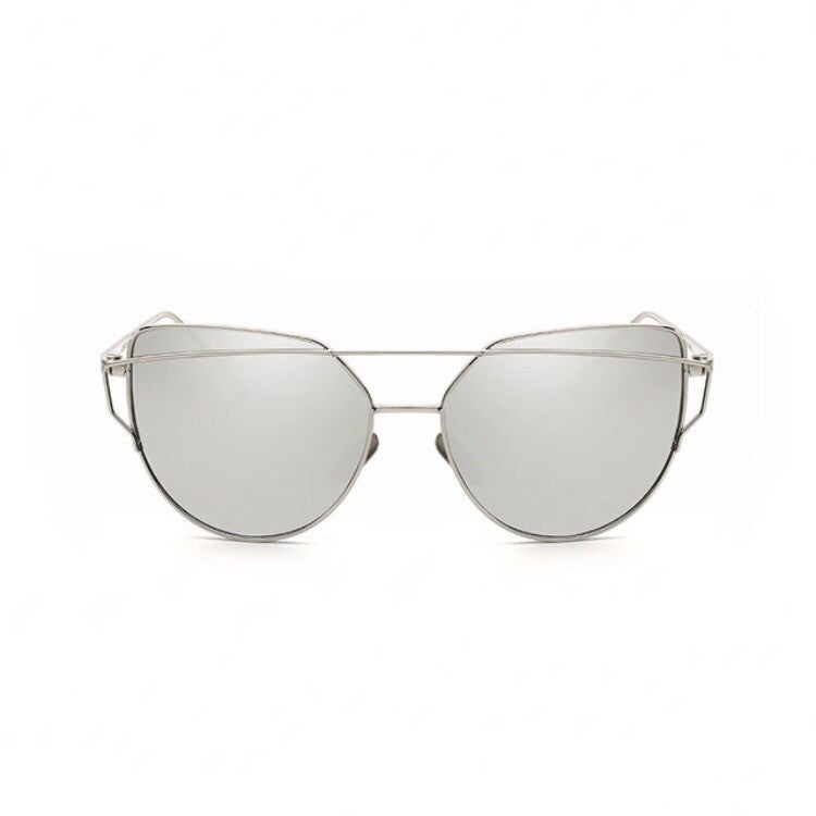 silver sunglasses with silver double frames edgability