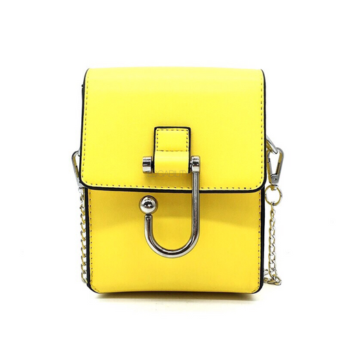 structured yellow sling bag front view edgability