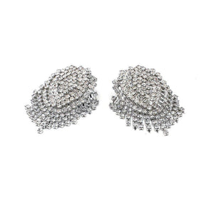 statement earrings crystal earrings chic jewelry edgability bottom view