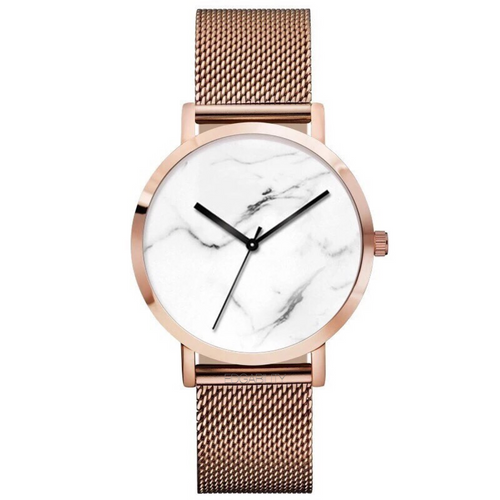 metallic rose gold marble design watch edgability