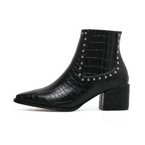 croc black studded boots edgability side view