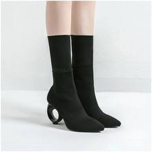 socks boots black boots edgability angle view