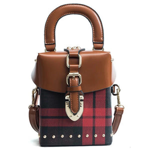checkered studded bag box bag edgability