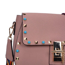 detail view of dusty rose trendy handbag edgability