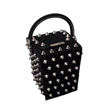black bag studded bag vintage bag edgability