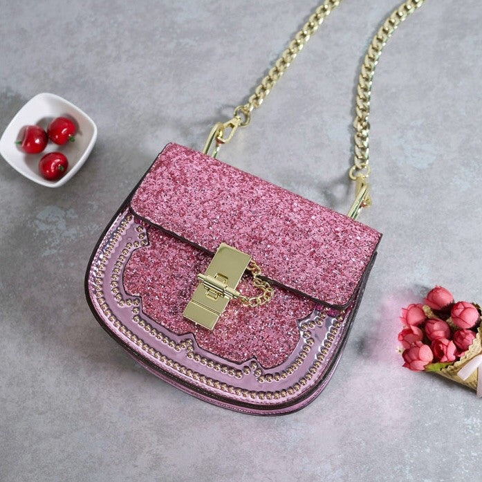 sparkly pink party handbag edgability