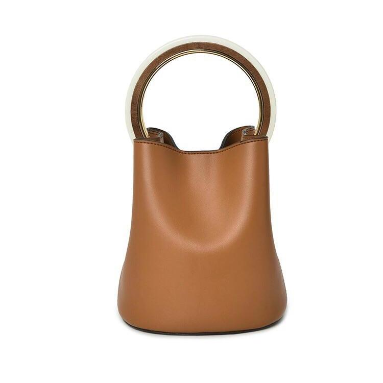 tan bag bucket bag luxury bag wristlet edgability