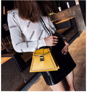 yellow bag sling bag triangle bag edgability model view