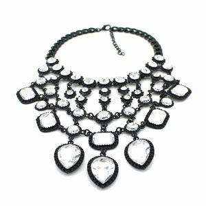 statement necklace black layered necklace edgability top view