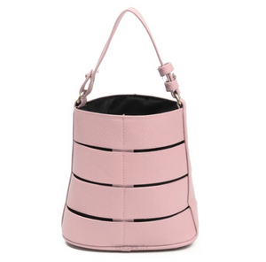 pink bucket bag office bag edgability
