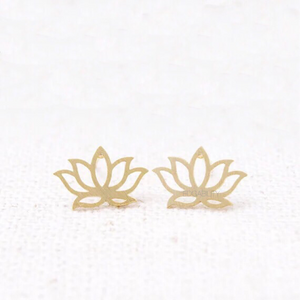 diwali lotus gold earrings edgability