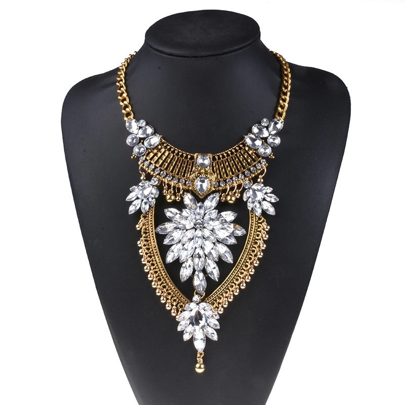 statement necklace edgability floral layered necklace