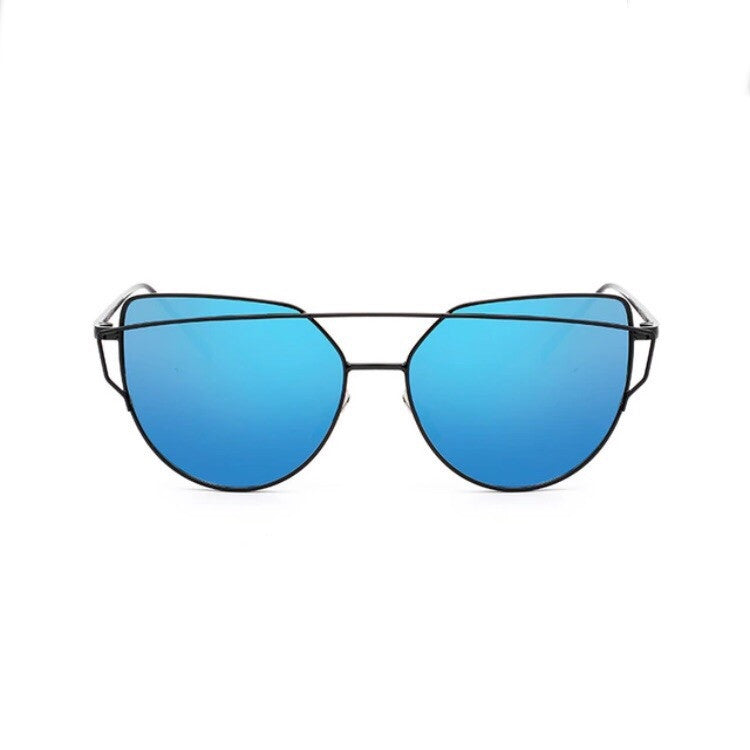 blue sunglasses black double frames edgability