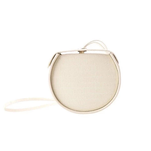 croc skin white round box bag edgability