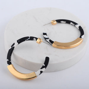 marble earrings statement jewelry gold earrings edgability top view