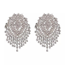 statement earrings crystal earrings chic jewelry edgability front view