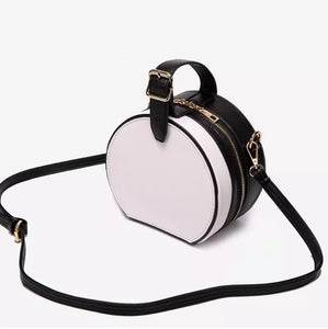 box bag round bag black bag with buckle edgability top view