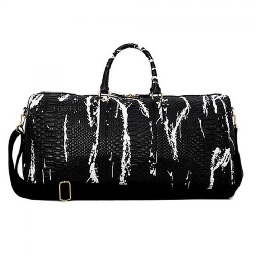 black and white bag marble travel bag edgability