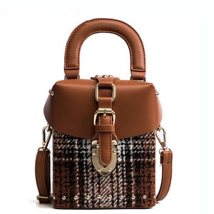 brown studded bag box bag edgability