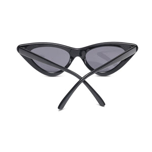 cat eye sunglasses black sunglasses edgability back view