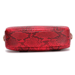 red snakeskin belt waist bag edgability bottom view