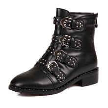 studded boots black boots edgability
