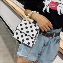 polka dots bag black and white bag pearls bag edgability size view