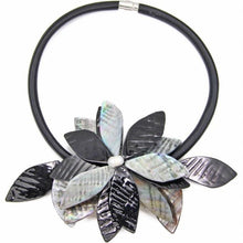 black gray statement necklace with exotic floral design edgability