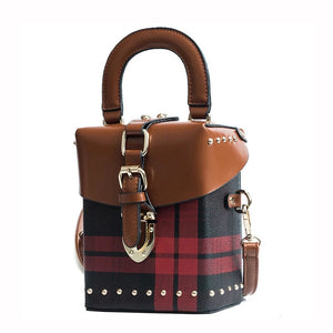 checkered studded bag box bag edgability angle view