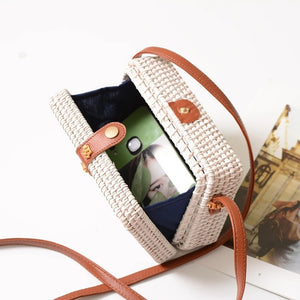 box bag rattan bag travel white bag edgability open view