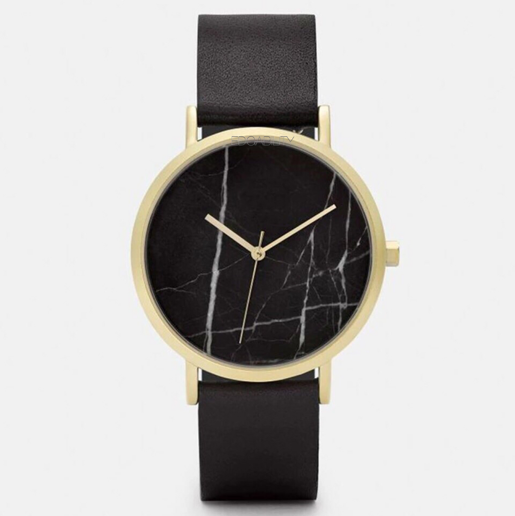 marble black watch leather like edgability