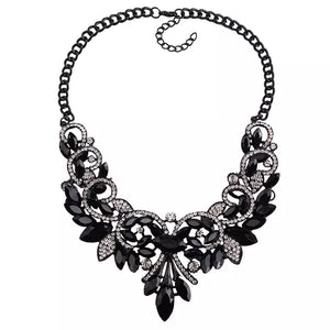 floral statement jewelry black necklace edgability