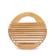 bamboo bag round bag box bag travel bag edgability front view