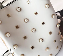 studded bag bucket bag white bag edgability detail view