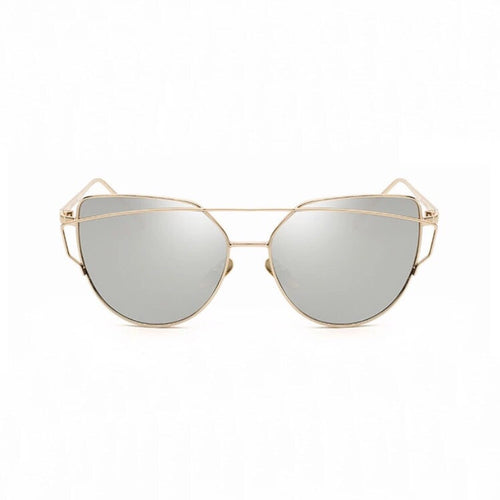 silver sunglasses with gold double frames edgability