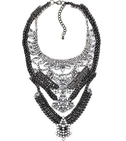 statement necklace black necklace edgability