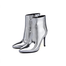 silver boots with heels edgability