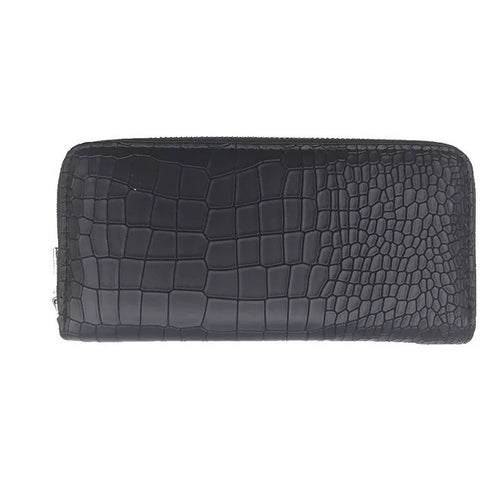 croc skin black wallet edgability